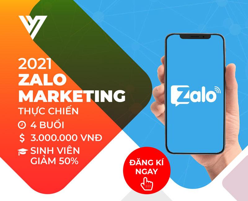 Khóa học Zalo Marketing thực chiến- Đào tạo Digital Marketing